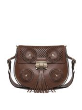 Furla Fringed Detail Crossbody Bag