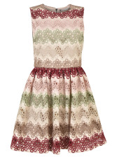 Alice + Olivia Zigzag Lace Mini Dress