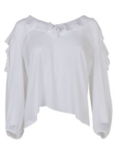 Alice + Olivia Cold Shoulder Blouse