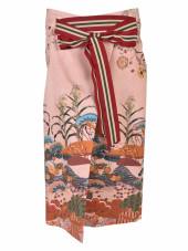 Stella Jean Numerosa Japanese Print Pencil Skirt