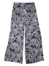 Blue Paisley Satin Trousers