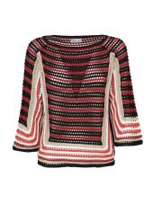 Red Valentino Crochet Sweater
