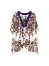 Roberto Cavalli V-neck Handkerchief Top