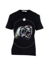 Black Baboon Print T-shirt
