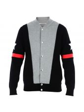 Black & Grey Knit Blouson