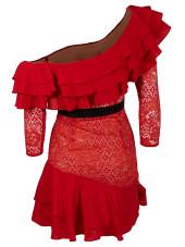 For Love & Lemons Chiannti Off-Shoulder Dress