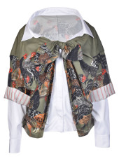 Stella Jean Rooster Print Shirt