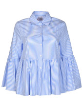 Stella Jean Imminente Striped Ruffled Shirt