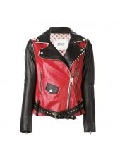 Bazar Deluxe Multicolor Studded Leather Jacket