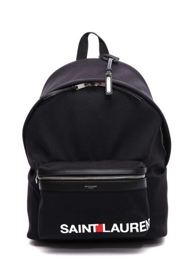 SAINT LAURENT Saint Laurent Printed Logo Backpack