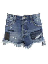 One Teaspoon Salty Tailor Le Wolves Shorts