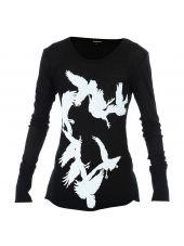 Ann Demeulemeester Bird Print T-shirt