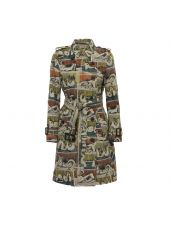 Burberry Printed Gabardine Trench Coat