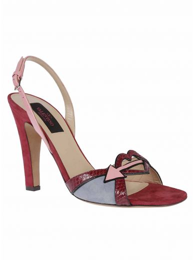 VALENTINO Cutout Detail Sandals in Rubino