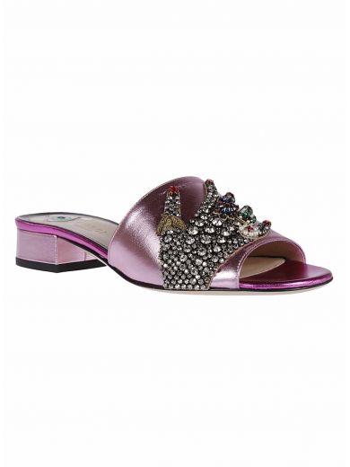 GUCCI Gucci Gucci Crystal Hand Applique Sandals