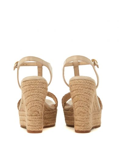 UGG Ugg Fitchie Golden Leather Wedge Sandal