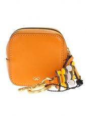 Yellow And Orange Leather Circulus Purse