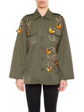 Embroidered Vintage Army Jacket