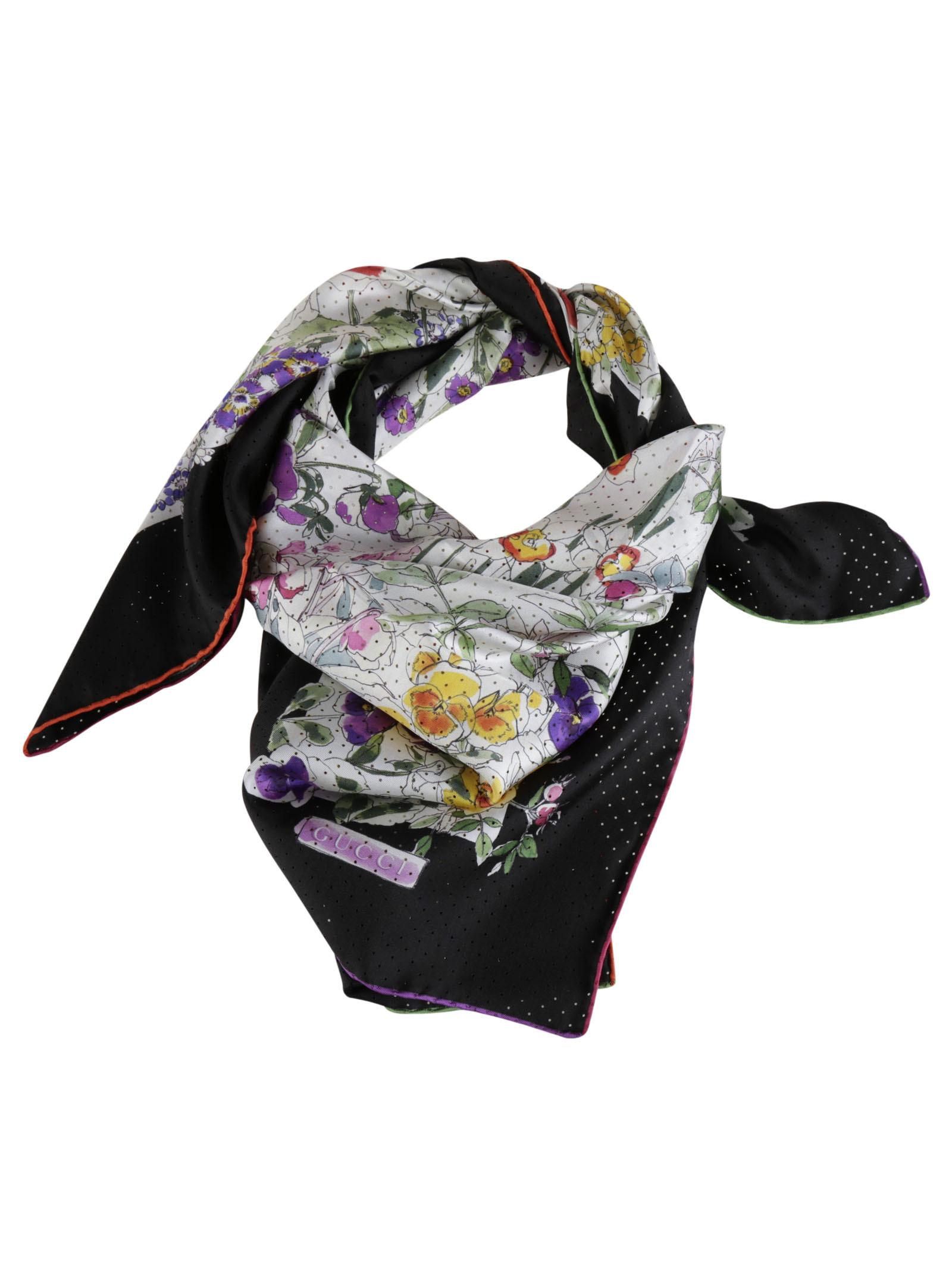 gucci female 46325 gucci silk twill floral print scarf