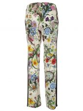Gucci: White Floral Trousers