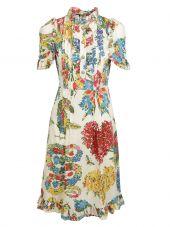 Gucci: Avorio Corsage Print Dress