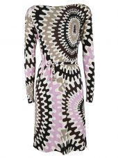 Emilio Pucci Bersaglio Print Long Sleeve Dress