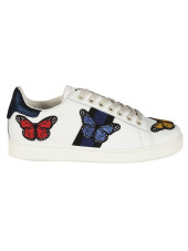 Master Of Arts Embroidered Butterfly Sneakers