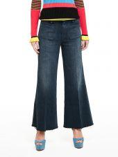 Mother Patch Pocket Roller Ankle Jeans
