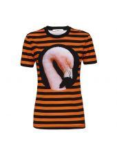 Givenchy Stripe Swan Printed T-shirt