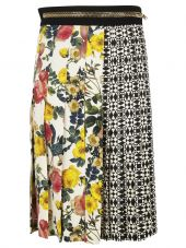 Fausto Puglisi Contrast Print Skirt