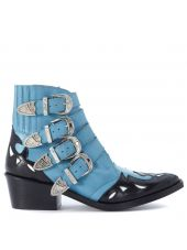 Toga Pulla Texan In Light Blue Leather