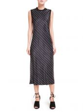 Dkny Pinstripe Slip Dress