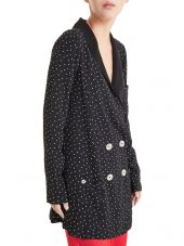 For Love & Lemons Polka Dot Blazer Dress
