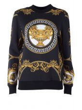 Versace 'la Coupe Des Dieux' Printed Cotton-jersey Sweatshirt