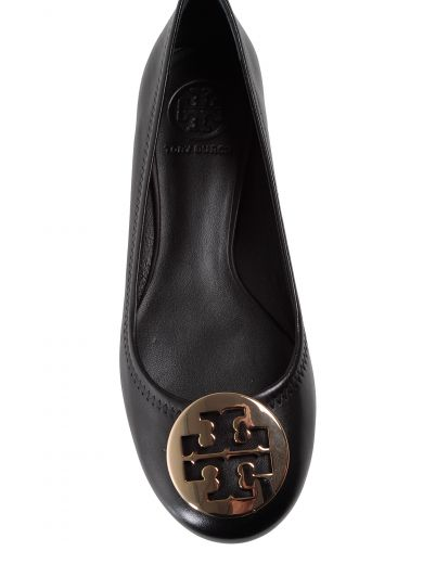 TORY BURCH 'Minnie Travel' Leather Ballet Flats