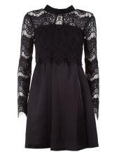 Bcbg Max Azria Scalloped Lace Flare Dress