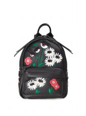 Chiara Ferragni Flirting Flowers Faux-leather Mini Backpack