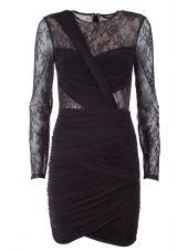 Bcbg Max Azria Lace And Tulle Stretch-jersey Mini Dress