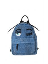Chiara Ferragni Flirting Eye Denim Mini Backpack