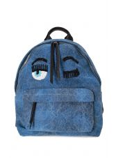 Chiara Ferragni Flirting Eye Denim Backpack