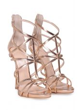 Giuseppe Zanotti Mirrored-leather Cage Sandal