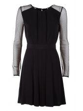 Bcbg Max Azria Tulle And Stretch-jersey Mini Dress