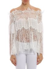 Ermanno Scervino Blouse Off The Shoulder Lace