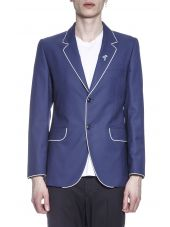Marc Jacobs Wool Blazer With Contrasting Color Piping