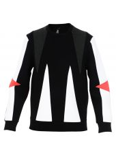 Black Triangle Panelled Sweater
