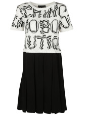Boutique Moschino Letter Print Dress