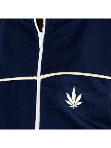 PALM ANGELS Cannabis Leaf Print Contrast Track Jacket