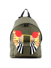 Olive Green Wings Print Backpack