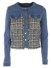 Karl Lagerfeld Frayed Denim Jacket