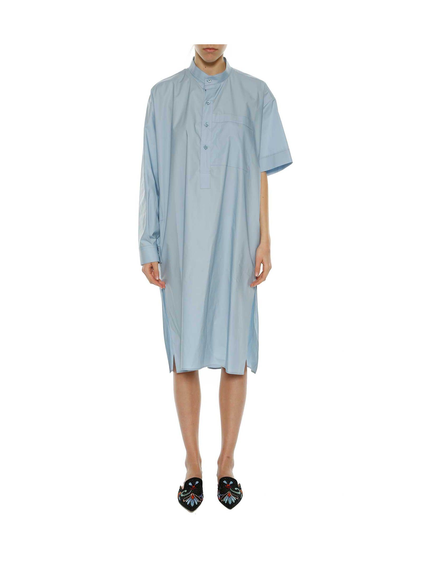 Balenciaga Asymmetric Gandoura Dress